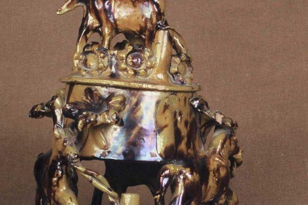 Ταμπακιέρα ή Ζαχαριέρα Τσανάκκαλε. Τέλη 19ού / αρχές 20ού αιώνα. Συλλογή Κ.Μ.Ν.Κ.
